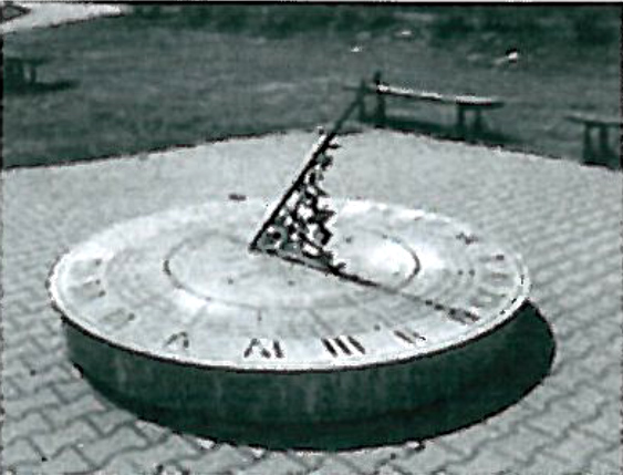 Sundial at School in Janowice Rybnickie just south of Rybnik